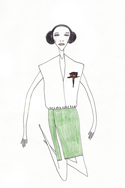 Costume  sketch for promo Stella Artois 2000/